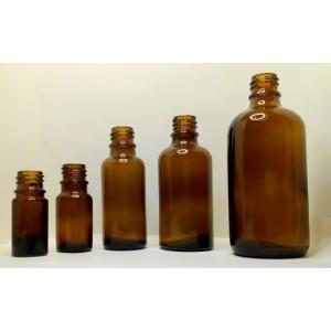 Druppelflesjes glas (5, 10, 30, 50, 100 ml)
