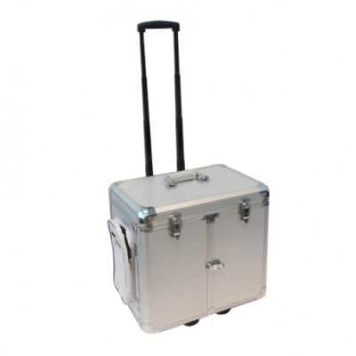 Pedicurekoffer met Trolley - Aluminium