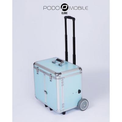 Pedicurekoffer -Trolley Podo Mobile Pastelblauw