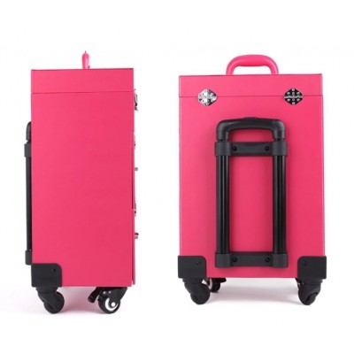 Koffer -Trolley Roze multi use
