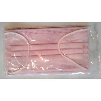Mondmaskers chirurgische - gekeurd! -  roze - individueel verpakt