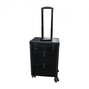 Koffer /Trolley zwart croq multi use