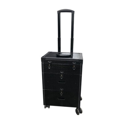 Koffer -Trolley zwart croq multi use