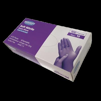 Handschoenen Nitril soft Blauw / Paars